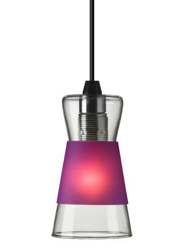 Authentics Pure Glass Pendentif Lampe Blanc/Rouge/Violet
