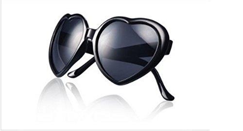 JKLYZXS Lolita Herzform Sonnenbrille Brille - schwarz
