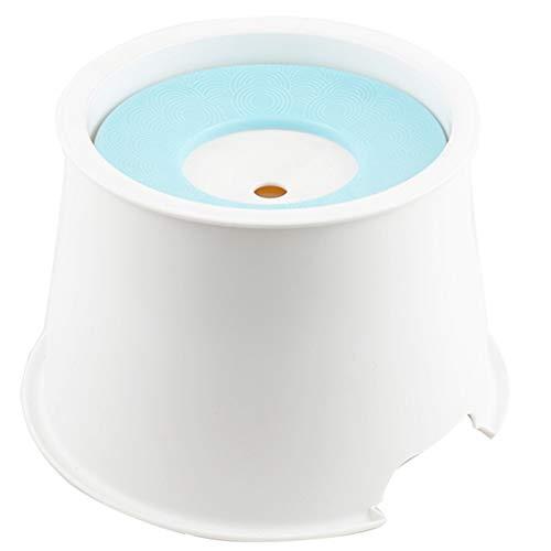 Liyue-bowl Nicht Nasser Mund Bart, der Futternapf trinkt Katze und Hund Anti-Spritzer Umwelt-antibakteriell Bequeme Reinigung Abnehmbare Tierbedarf (Color : Blue) (Bart Der Katze)