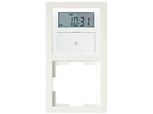 Digitale Unterputz Zeitschaltuhr ca. 140 Schaltung pro Woche, inklusive Doppelrahmen, max. 1800 Watt -