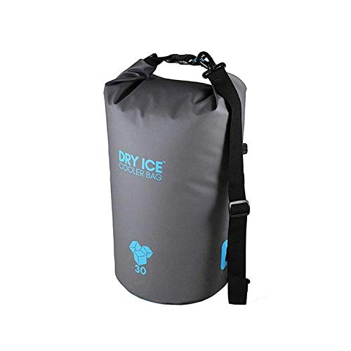 Dry Ice Cooler Bag Kühltasche 30 Liter Grau wasserdicht (Kordelzug Cooler Bag)