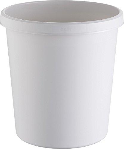 Helit H6105882 Objekt-Papierkorb, 18 L, grau