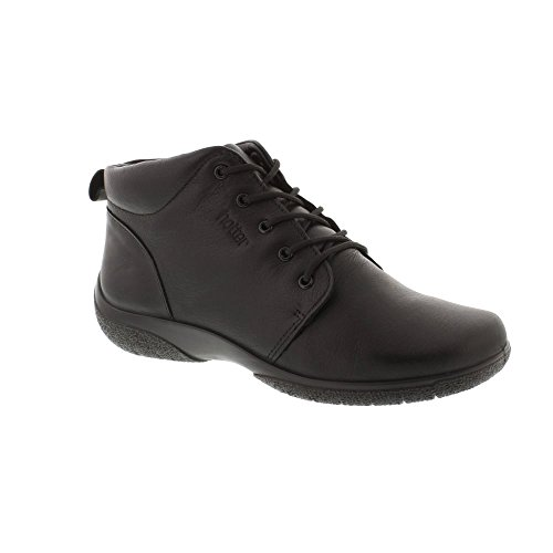 Hotter Ellery - Black Leather Womens Boots 7 UK