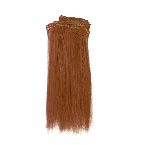TianranRT 1PC Mode 15X106Cm Großhandel Gerade Haar Haar Für DIY/BJD Perücke Puppe (B)