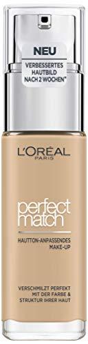 L'Oréal Paris Perfect Match Foundation, flüssiges Make-Up, deckend und feuchtigkeitsspendend für einen natürlichen Teint - 3N creamy beige (30 ml) - Beige Flüssig-foundation