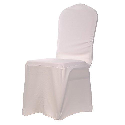 Edle Stuhlhusse Husse Stretchhusse aus Baumwolle - Elastic Stuhlüberzug Farbe Beige-A