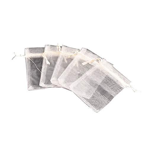 NBEADS Organza Taschen, 10 Stücke 13 * 18 cm Rechteck Papaya Peitsche Organza Beutel für Perlen Lagerung Mitbringsel Handwerk Charme Verpackung -