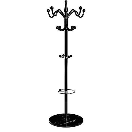 Deuba attaccapanni da terra piedestallo in marmo 173cm curvo per giacche cappotti cappelli ombrelli portaombrelli appendiabiti appendino