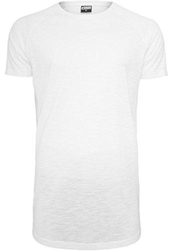 Urban Classics Long Shaped Slub Raglan Tee T-Shirt Shirt, Farbe:WHITE;Größen:XL (Crewneck Slub T-shirt)