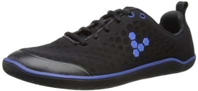 VIVOBAREFOOT Men's Stealth M Running Shoes, Black/Royal Blue, 6 UK