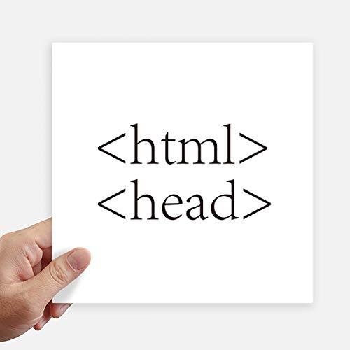 DIYthinker Programmer Programm Statement HTML Quadrataufkleber 20Cm Wand Koffer Laptop Motobike Aufkleber 4Pcs 20cm x 20cm Mehrfarbig
