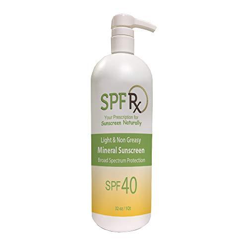 SPF Rx SUNBLOCK BULK SPF 40, Protector solar natural con óxido de...