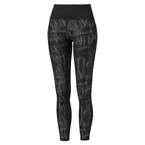 PUMA Damen Studio 7/8 Graphic Tight Leggings, Black, L