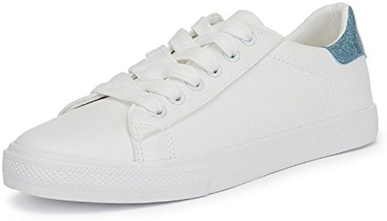 Wuyulunbi@ Le printemps et l'automne Saison Basse Basse Basse Chaussures de talon Chaussures à fond plat Chaussures BlancB079DPTRV4Parent 2b4d1b