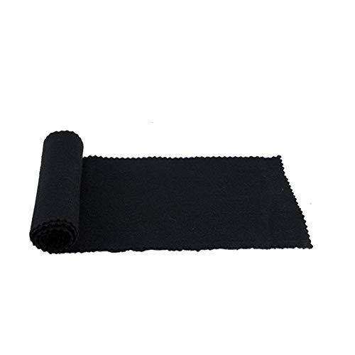 Digital-tücher (nuzamas Piano Tastatur Staub Cover weichen Tuch für Klavier Elektronische Tastatur, DIGITAL PIANO Reinigung Pflege 119* 14cm, schwarz)