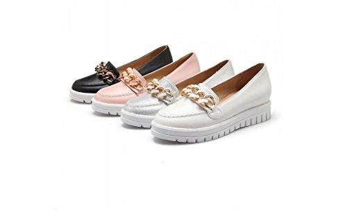 Bombas Verão Primavera Mulheres Preto Sapatos Femininas Sapatos 43 Rosa Casuais E 34 Brancas Beauqueen Plana Prata Rosa Fw4IrxqF5