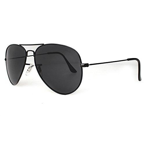 Distressed Flat Aviator Pilotenbrille Sonnenbrille Fliegerbrille 2250 - schwarz getoent