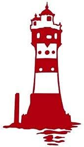 Graphits Leuchtturm Roter Sand Aufkleber 80 0021 Autoaufkleber Hochwertig Konturenschnitt Freigestellt Ohne Hintergrund Größe Und Farbe Anpassbar Auto