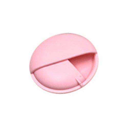 SUPVOX Pillendose Tablettenbox Wasserdichte Pill Box Runde Pillen Organizer für Reise Haus (Rosa)