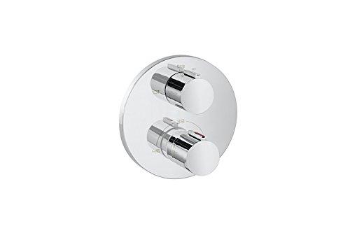Roca T 1000 - grifo termostático empotrable para baño y ducha con...