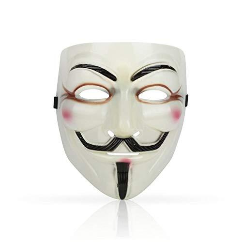 For Mädchen Vendetta Kostüm V - WSJDE 1 STÜCKE Partei Masken V Wie Vendetta Maske Anonym Guy Fawkes Kostüm Zubehör Party Cosplay Masken BHellgelb