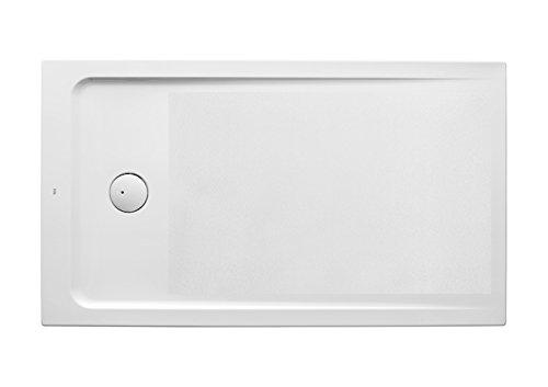 Roca A276302000 - Plato de ducha acrílico extraplano con fondo antideslizante y juego de desagüe