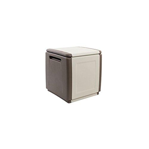 Baule Cassa Multiuso Porta Tutto in Plastica Casa Giardino Giochi Grigio/Verde cm54x53x57