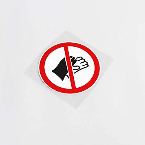 Ayuop Auto Aufkleber 10,9 cm * 10,9 cm Keine anziehen Handschuhe Warnzeichen PVC Dekoration Auto Aufkleber wasserdicht Aufkleber -