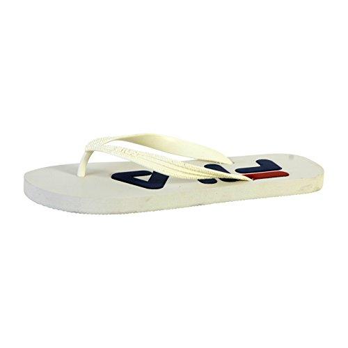 Fila men sport base troy slipper, mocassini uomo, bianco (white 1fg), 44 eu