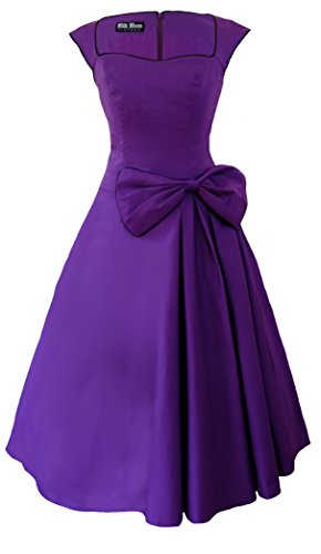 Robe Style rétro 1950s Swing Violet - Violet