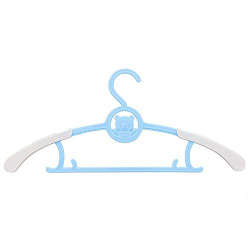 XZANTE Baby Kleider Bügel Teleskop Kleidung Niedlichen Karikatur Kinder Kleider Bügel Kind Kleider St?nder Neugeborenes Baby Kunststoff Aufh?nger Blau (Baby-schrank-teiler-blau)