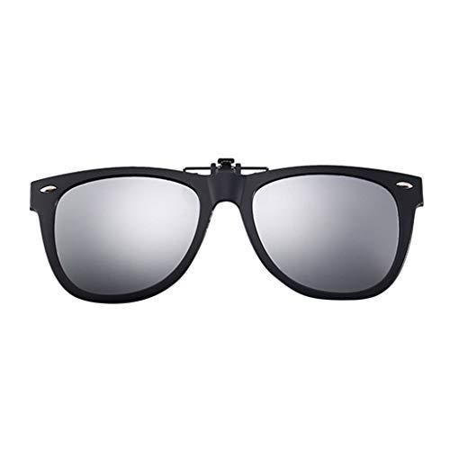Lazzboy Polarisierte Sonnenbrillen Mit Clip Blendschutz Für Korrekturbrillen Nacht Vision Brille, Unisex Sportbrille, Polarisiert Sonnenbrille, Fahrbrille Radbrille Gelben Gläsern (Grau)