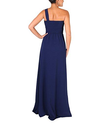 KRISP® Damen Elegante Maxi Kleider Bodenlange Festkleider Marineblau (4814)