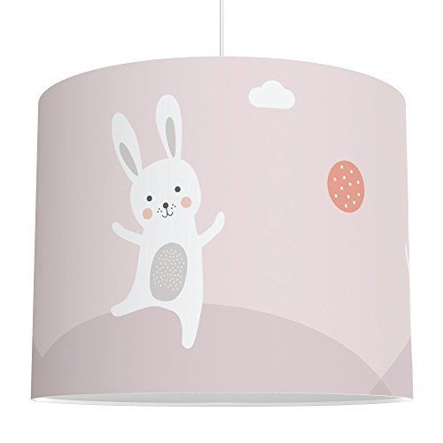 LALAVI Lampenschirm fürs Baby- und Kinderzimmer (Ø 40 cm) - Für Deckenlampe oder Stehlampe - Mit Liebe hergestellt in Deutschland (Rosa)