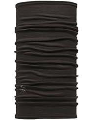 Buff Slim Fit Merino Wool- Braga de cabeza para niño, color negro, talla 22.5 cm