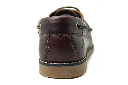 Timberland Seabury Classic 2 Eye Boat Schuhe Kinder Schnürschuhe Bootsschuhe Blau 3197A Dark Brown