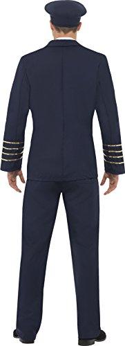 Imagen de smiffy's  disfraz de piloto de la marina para hombre, talla l 28621l  alternativa