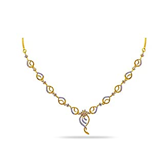 Joyalukkas Pride Diamond Collection 18k Yellow Gold and Diamond Chain Necklace