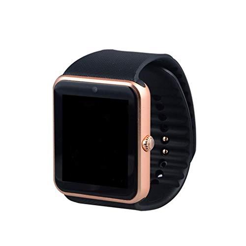 WATTP Reloj inteligente para hombre Gt08 reloj de sincronización notificador de apoyo tarjeta SIM Bluetooth conectividad para iOS Android Smartwatch reloj de goma (color : C)