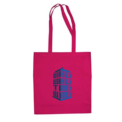 Wibbly Traballante Timey Wimey - Stofftasche / Beutel Pink