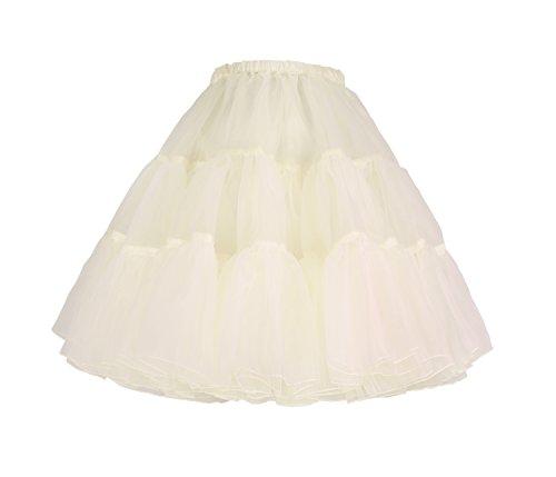Flora 50er Jahre Rock n Roll Hoopless Short Unterrock/Feines Tutu Petticoat, 18