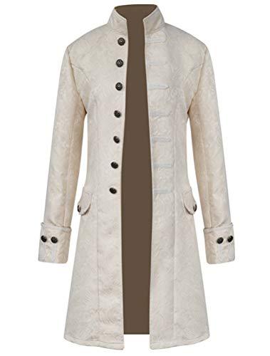 KJHSDNN Abrigo Escudo de Hombre Traje de Steampunk Retro de Capa Chaqueta con Cuello Alto