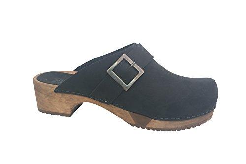 Sanita Grit Basic Flex Open Black Black Größe 39