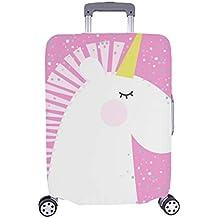 Unicornio Lindo en el patrón de Color Rosa Maleta con Ruedas Maleta Protectora de Viaje Maleta