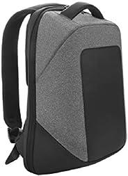 Santhome Anti Theft Laptop Unisex Backpack I External USB Port I Hard exterior to retain shape I Light weight