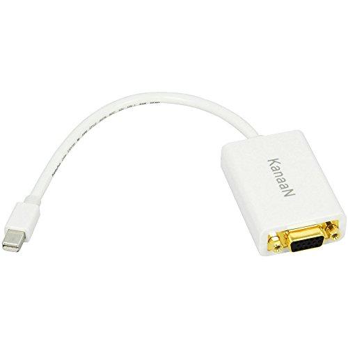 Leicke KN39701 KanaaN Mini-Display-Port auf VGA Adapter für Apple MacBook Pro