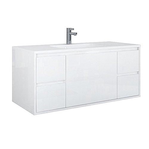 Waschplatzset Opera 120, 2-teilig, Waschbecken und Unterschrank, Hochglanzlackierung weiß