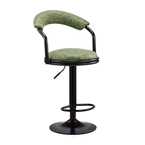 Esszimmer Rattan Bar Hocker (MXXYZ Klappsessel klappstühle Barhocker Home Retro-Rezeption Rückenlehne Hocker kann gedreht Werden Lift Kreative Esszimmer Bar Stuhl (Color : K))