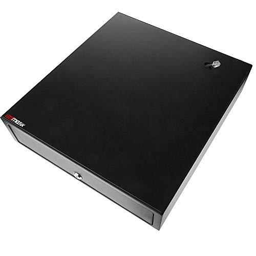 BeMatik - Cajón portamonedas Negro automático RJ11 para Impresora TP