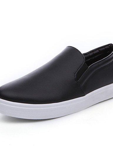 Shangyi Gyht Chaussures Pour Femmes-mocassins-loisirs / Bureau Et D'affaires / Casual-confortable-low-tassel En Cuir-noir / Blanc Blanc